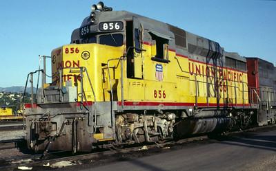 UP GP30 856. Salt Lake City, July 1985. (Warren Johnson Photo)