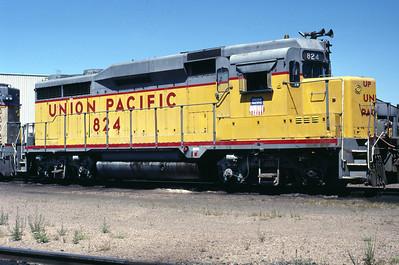 UP GP30 824. August 1987. (Warren Johnson Photo)