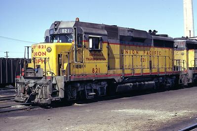 UP GP30 821. Salt Lake City, April 1973. (Don Strack Photo)