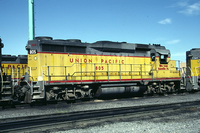 UP GP30 805. Salt Lake City, July 1983. (Don Strack Photo)