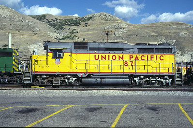 UP GP30 871. Salt Lake City, September 1985. (Don Strack Photo)