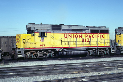 UP GP30 813. Salt Lake City, July 1983. (Don Strack Photo)