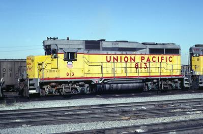 UP GP30 813. Salt Lake City, July 1983. (Don Strack Photo)
