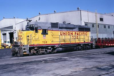 UP GP30 720. Salt Lake City, April 1986. (Warren Johnson Photo)