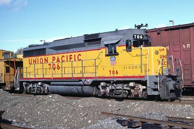 UP GP30 706. Tacoma, Wash., October 1984. (Ken Ardinger Photo)