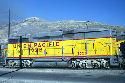 UP GP30B 702B. Salt lake City, November 1986. (Warren Johnson Photo)
