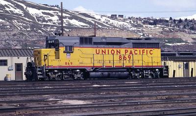 UP GP30 869. Salt Lake City, April 1983. (Don Strack Photo)