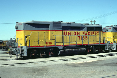 UP GP30B 713B. Salt Lake City, August 1983. (Don Strack Photo)