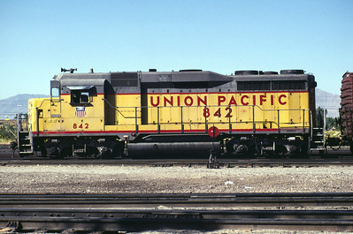 UP GP30 842. Salt Lake City, September 1985. (Warren Johnson Photo)