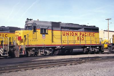 UP GP30 863. Salt Lake City, March 1986. (Don Strack Photo)
