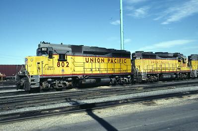UP GP30 802. Salt Lake City, July 1986. (Don Strack Photo)