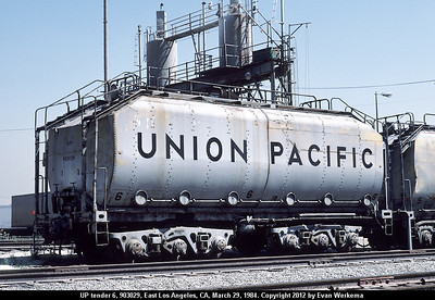 LA no. 6 (UP 903029), Fuel Storage Tank (Evan Werkema Photo)