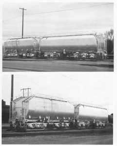 Two former GTE tenders used at Ogden as fuel storage (Lifted from Turbines Westward)