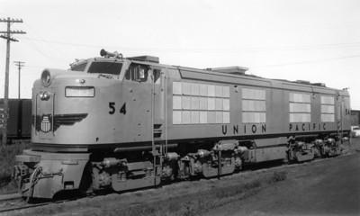 UP no. 54, 4500 GTEL, Council Bluffs, Iowa, 1952. (Union Pacific Photo)