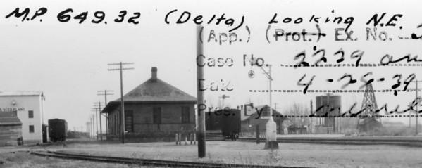 LA&SL Delta depot, April 1939.