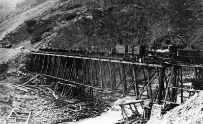 Bridge at Devil's Gate. (Union Pacific Historical Collection)