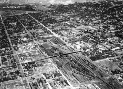 Salt Lake City, before 1948 (Grant Tower not yet completed). (Union Pacific Historical Collection)
