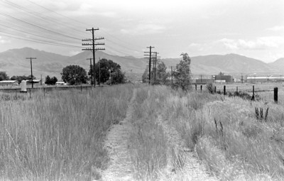 UP Buena Vista, near Salt Lake City, original alignment, looking east, 1982. (Don Strack Photo)