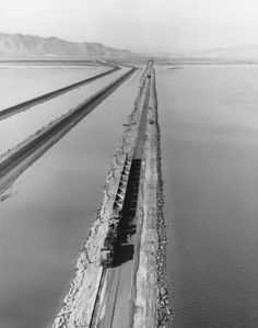 Great Salt Lake, south shore, looking west. (Union Pacific Historical Collection)