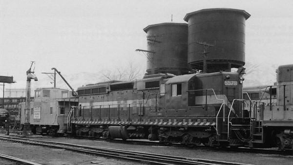 EMD 5579 at Ogden, February 1959. (Emil Albrecht Photo)
