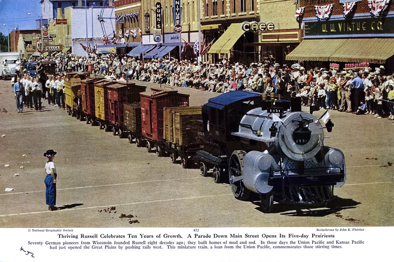 Union Pacific Miniature Train, Russell, Nebraska. (National Geographic, April 1952)