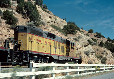 UP Park City Local passing Echo Dam, October 1976. (Ralph Gochnour Photo)