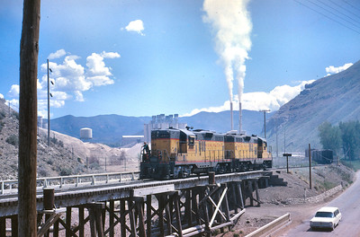 UP's Park City Local switching the cement plant at Devil's Slide, Utah. June 1967. (Dave England Photo)