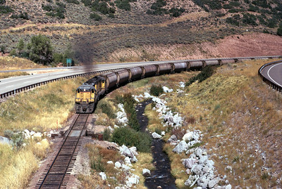 GP9s on the Park City Local, in Silver Creek Canyon. September 1970. (Keith Ardinger Photo)