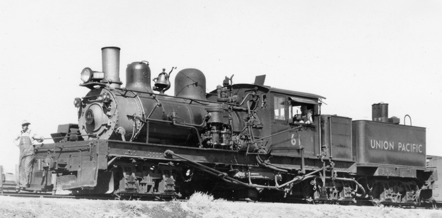 UP Shay no. 61, left side. (Don Strack Collection)