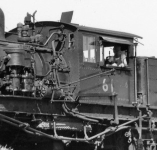 Installation of power reverse gear to UP Shay no. 61. (Don Strack Collection)
