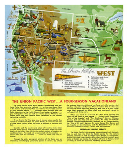 The Union Pacific West. Used on the 1961 calendar, back page (descriptions).