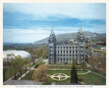 1957 calendar, full year 1957 page - Downtown Salt Lake City has changed a lot since this photo from 1953.