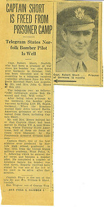 Capt. Robert Short in the Norfolk, Nebraska newspaper clipping.
