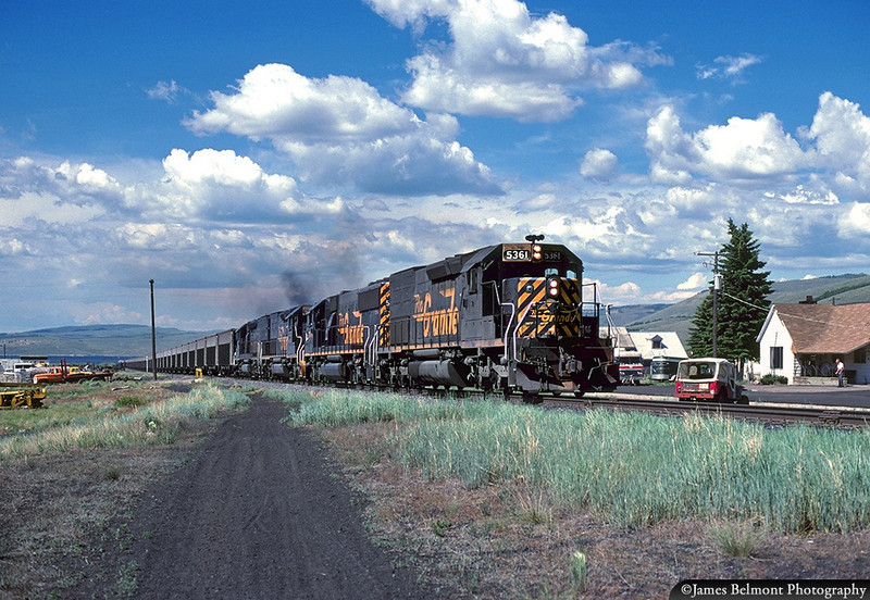 Empties through Scofield, June 1988. (James Belmont Photo)