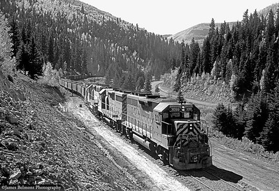 Rebuilding the Scofield Branch for Valley Camp trains, October 1975. (James Belmont Photo)