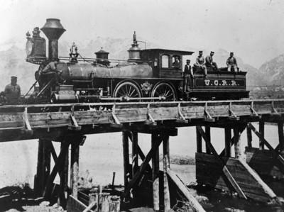 Utah Central Railroad, Weber River bridge. (Union Pacific Historical Collection)