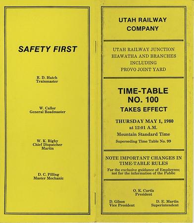 Timetable 100 (1980)