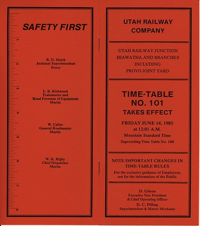 Timetable 101 (1985)