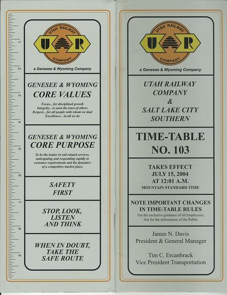 Timetable 103 (2004)