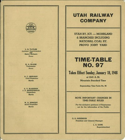 timetable 97 1948