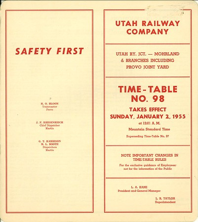 Timetable 98 (1955)