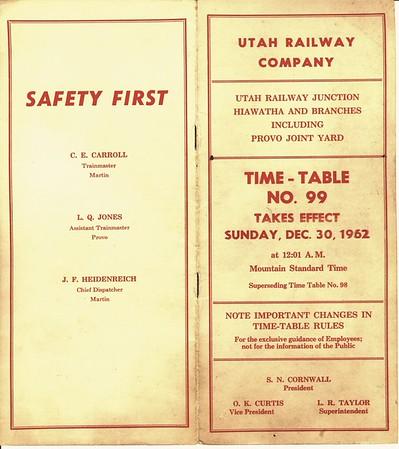 Timetable 99 (1962)