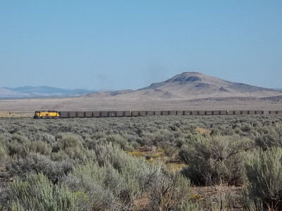 Utah Southern SD40T-2 3100 with train. September 12, 2011. (Robert Lehmuth Photo)
