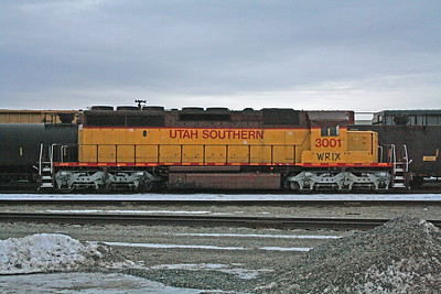 Western Rail Industries SD40-2 3001 (ex-Utah Southern), Spokane, Washington. January 27, 2012.