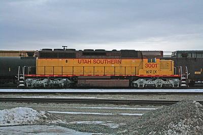 Western Rail Industries SD40-2 3001 (ex-Utah Southern), Spokane, Washington. January 27, 2012.