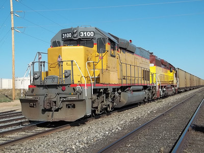 Utah Southern SD40T-2 3100. September 12, 2011. (Robert Lehmuth Photo)