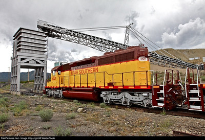 Utah Southern SD40-2 3001. At mine loader. August 2010.
