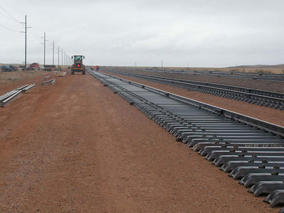 New interchange track at Iron Springs, Utah. September 27, 2006.