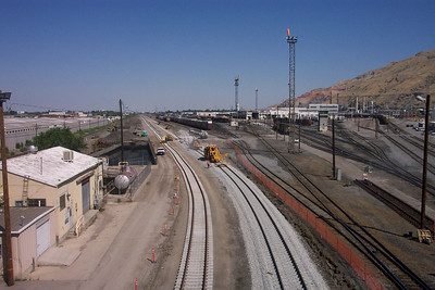 Looking north, from 600 North viaduct, new UP mainline
