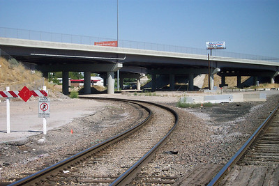 Grant Tower tracks, former WP freight line